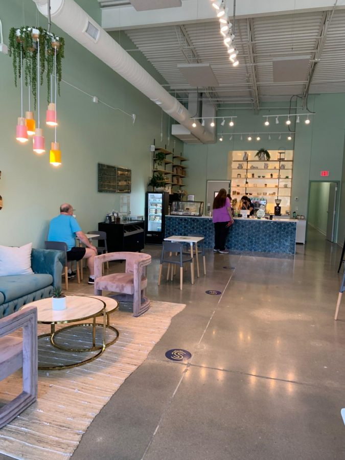 Legacys new Stir Coffee Bar creates a fun space for those looking for an area to study or meet with a friends along with a nice cup of coffee.