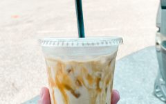 Pictured is the infamous iced Beanery mocha.