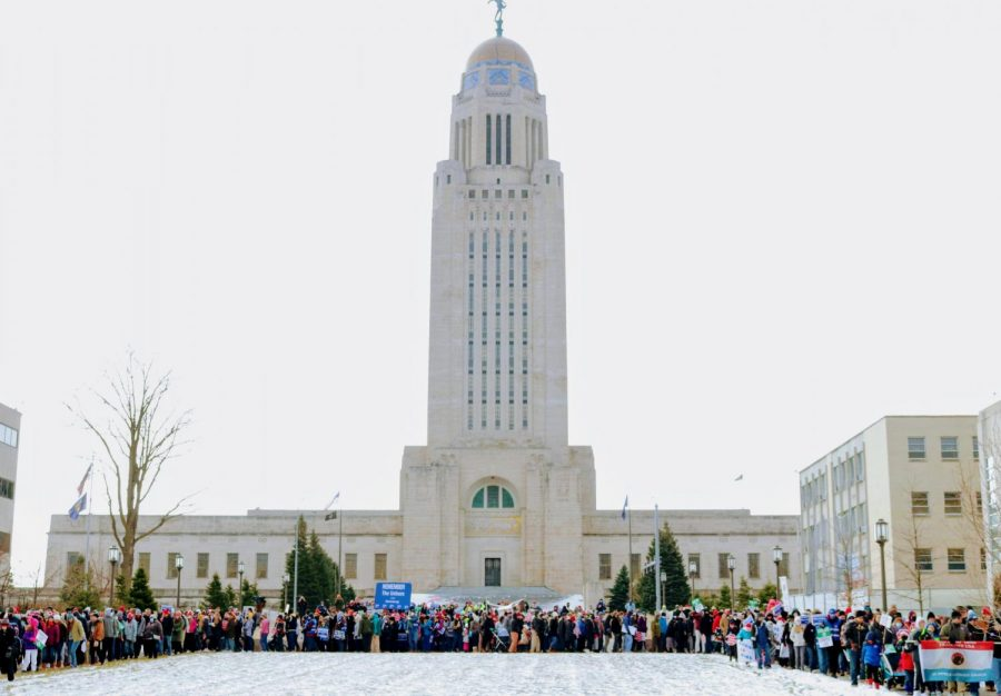 Photo of the Nebraska State Capitol in Lincoln, NE, on Jan. 16, 2021.